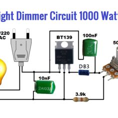 Light dimmer circuit is used to Control the light as you want. This circuit is very power full using and some other components with pot Electronics Mini Projects, Electrical Projects, Diy Electronics, Custom Shipping Boxes, Circuit Components, Electronic Circuit Design, Electric Circuit, Electronic Schematics, Cool Gadgets To Buy