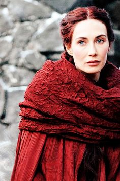 "Melisandre: ""Alone we are born and alone we die, but as we walk through this black vale we draw strength from one another.."" #got #the red woman"