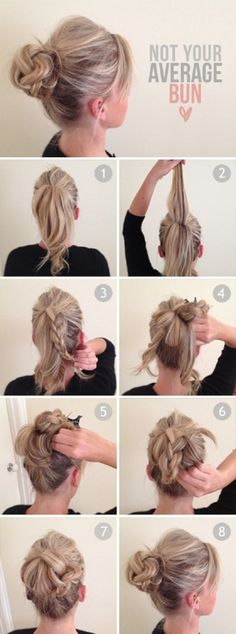 Hair bun tutorials