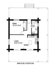 apartment floor plans Choosing Small Kitchen Layout with Island Floor Plans Tiny House Is Simple Even if your kitchen is small, if its an L-shape kitchen, its one of the absolute Small House Floor Plans, Cabin Floor Plans, Tiny House Cabin, Tiny House On Wheels, 1 Bedroom House Plans, Kitchen Layouts With Island, Island Kitchen, Casa Loft, Garage Apartment Plans