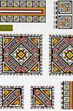 Cross Stitch Borders, Cross Stitch Charts, Cross Stitch Designs, Cross Stitching, Cross Stitch Patterns, Folk Embroidery, Cross Stitch Embroidery, Embroidery Patterns, Found Object Jewelry