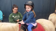 lacey going for a ride on a horse
