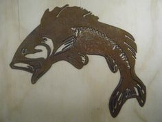 Rusted Rustic Metal Bass silhouette by RockinBTradingCo on Etsy, $12.00  www.rockinbtrading.com