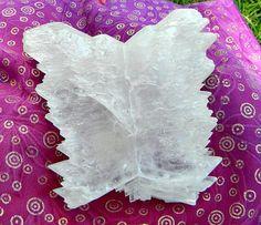 Selenite Angel Wings Crystal by Krystalins on Etsy, $55.00