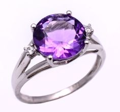 925 Sterling Silver Ring with Amethyst & Zircon https://www.etsy.com/people/asianjewellers09?ref=si_pr http://www.ebay.com/usr/asianjewellers