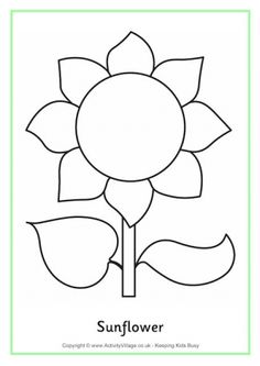 8 Best Images of Sunflower Stencil Printable - Sunflower Cut Out Template Printable, Free Printable Sunflower Template and Sunflower Flower Templates Printable Free Sunflower Coloring Pages, Sun Coloring Pages, Sewing Appliques, Applique Patterns, Flower Patterns, Stencil Patterns, Felt Patterns, Sunflower Colors, Sunflower Crafts