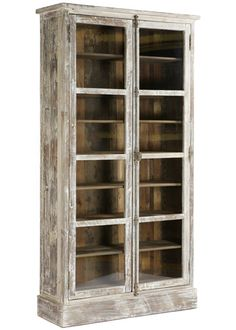 White distressed cabinet