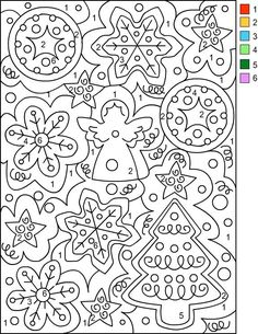 Nicole's Free Coloring Pages: CHRISTMAS * Color by Number... - http://designkids.info/nicoles-free-coloring-pages-christmas-color-by-number-3.html Nicole's Free Coloring Pages: CHRISTMAS * Color by Number #designkids #coloringpages #kidsdesign #kids #design #coloring #page #room #kidsroom