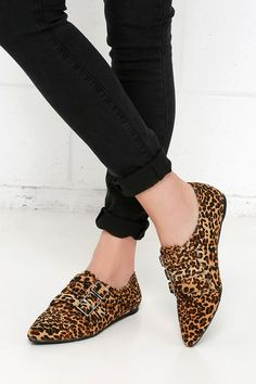 Penny Loves Kenny Sort Leopard Suede Pointed Flats at Lulus.com!