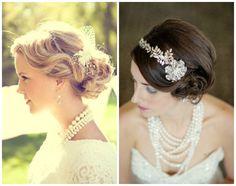 São preferência entre as noivas que gostam de estilos clássicos com toque vintage. As pérolas são eternas e significam pureza, feminilidade e alegria.