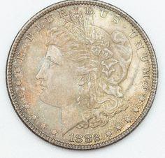 Numismática - USA - dolar prata 1882, magnífico.