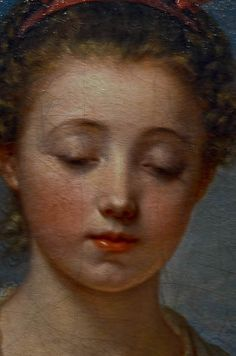 Jean-Baptiste Greuze, French (1725–1805) La Simplicité - 3 yrs to complete.  Kimbell Art Mus. Fort Worth - Close Up