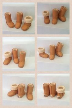 Polymer clay boot tutorial. Not in English but the pictures are quite clear.