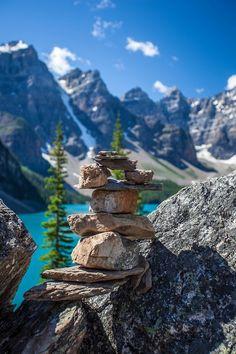 Bluepueblo:  Stacked Rocks, Alberta, Canada.  Photo via ashmil.