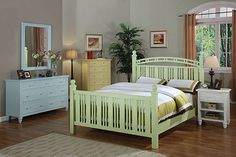 White Oceanside wood bedroom furniture by Seawinds Trading