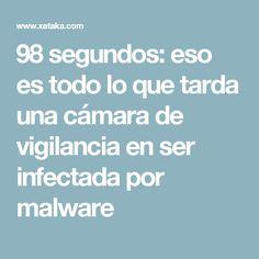 98 segundos: eso es todo lo que tarda una cámara de vigilancia en ser infectada por malware