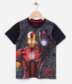 Camiseta Infantil    Manga curta    Gola redonda    Com estampa Iron Men    Marca: Avengers    Tecido: algodão         COLEÇÃO INVERNO 2017         Veja outras opções de produtos    Avengers.