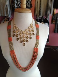 Yes, please! Two gorgeous necklaces with a splash of color to brighten up any outfit! #thespoiledgirl #boutique #necklace #accessories #womens #fashion