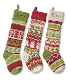 Fill these oversized knit Christmas stockings to the brim with gifts and treats this holiday. Knitted Christmas Stocking Patterns, Crochet Stocking, Christmas Yarn, Knitted Christmas Stockings, Crochet Christmas Ornaments, Christmas Projects, Knit Stockings, Knitting Charts, Knitting Projects