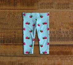 strawberries baby leggings