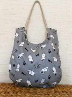 Moomintroll bag - Cotton handbag Shoulder bag Moomin bag Moomintroll by Vivicreative, $24.00