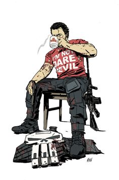 lol Punisher sporting the Shirt