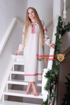 Славянская рубаха льняная