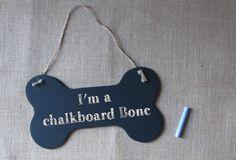 Chalkboard Dog Bone