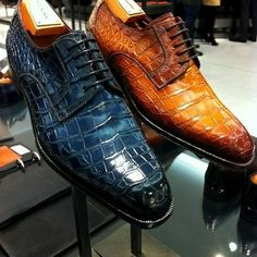 Alligator / Crocodile Shoes Visit for more Fashion insights and tips - Hot Shoes, Lace Up Shoes, Me Too Shoes, Dress Shoes, Mens Shoes Boots, Leather Shoes, Shoe Boots, Cow Leather, Gentleman Shoes