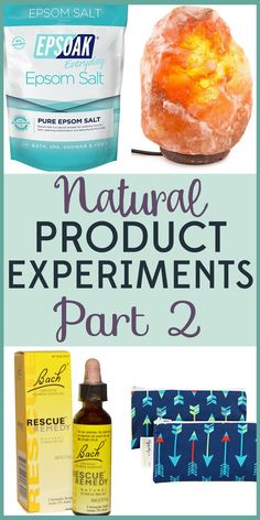 I've tried a LOT of natural products. Read about my crunchy product experiments to find out which work and which are a waste of your money.