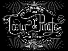 CBC Radio 3 Podcast Lettering by Ben Didier, via Behance