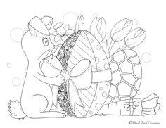 Lapin et oeufs en chocolat de Pâques par Maud Feral