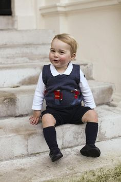 Prince George's New Portraits. Prince George is sweet when he is smiling.