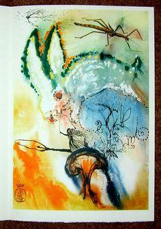 Dali illustrations of Alice in Wonderland | Down the Rabbit Hole