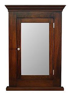 Cabinets Dark Walnut Recessed Medicine Cabinet