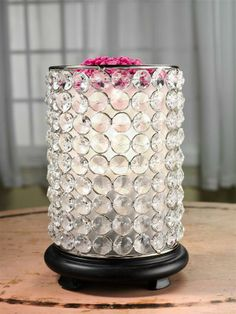 Beautiful Bling Shade for the Pink Zebra Simmering Light Base.  Love this!