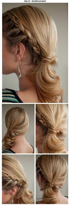 Braid/Side ponytail