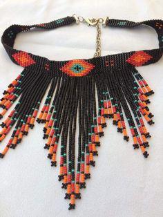 Kolye Seed Bead Jewelry, Seed Bead Earrings, Beaded Jewelry, Beaded Necklaces, Crystal Earrings, Bead Loom Patterns, Jewelry Patterns, Beading Patterns, Bead Embroidery Jewelry