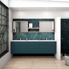 Kleur in de badkamer