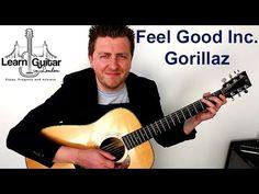 Feel Good Inc. - Easy Guitar Lesson - Gorillaz - FREE TAB - Drue James - YouTube
