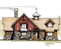plan 46015hc: large loft with full bath | plan plan, country
