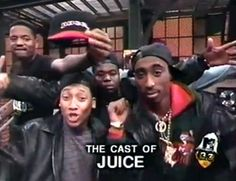 The cast of juice on the old show.ya know Famous Black People, Omar Epps, Black Tv Shows, Tupac Pictures, Tupac Makaveli, Black King And Queen, Music Collage, Girl Life Hacks, Hip Hop Rap