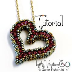 gwenbeads: TUTORIAL Sweetheart Pendant with Cubic Right Angle Weave CRAW