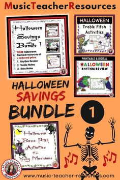 HALLOWEEN MUSIC RESOURCES SAVINGS BUNDLE 1! Teaching music in the classroom, distance learning or homeschooling music made easy with this $$ SAVING Bundle with a Halloween theme perfect to use during music classes, music games, rhythm activities, vocabulary development and a whole lot more! #MusicTeacherResources #mtrGames #mtrPuzzles #mtrHalloween #mtrBundles Child Teaching, Teaching Music, Halloween Music, Halloween Themes, Music Lessons For Kids, Music Worksheets, Music Classroom, Music Games, Music Education