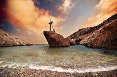 Shipwreck Olympia in Amorgos