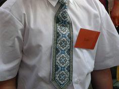 Ukrainian Hand Embroidered SchoolBoy Tie by MotryaShop on Etsy