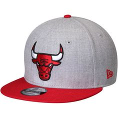 5968ca4aec4eb Men s Chicago Bulls New Era Heathered Gray Red Action Original Fit Snapback  Adjustable Hat