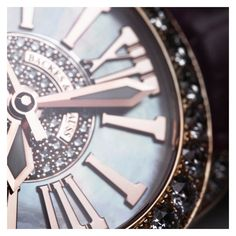 The Roman Numerals individually polished and set into the Mother of Pearl dial with a centre set beautifully with Ideal Cut Diamonds Ideal Cut Diamond, Roman Numerals, Centre, Diamonds, White Gold, Pearls, Luxury, Collection, Design