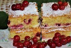 Ríbezľová bublanina s tvarohom Sponge Cake, Vanilla Cake, Cheesecake, Food And Drink, Pudding, Sweets, Bread, Fruit, Cooking
