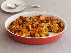 Find perfect Thanksgiving turkey stuffing recipes from Food Network, like the Barefoot Contessa's Sausage and Herb Stuffing.